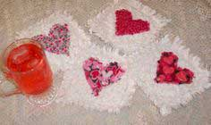 How to Make Valentine Raggedy Heart Coasters