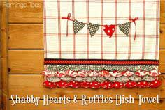 SHABBY HEARTS AND RUFFLES DISH TOWEL