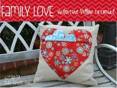 Family Love Valentine Pillow Tutorial from Jedi Craft Girl