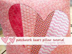 sewing: patchwork heart pillow tutorial