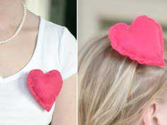 DIY: Valentine's Day Heart Pin