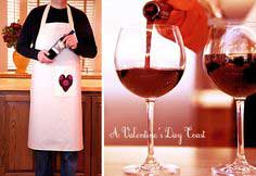Valentines: Heart Happy Apron (Men's Version)