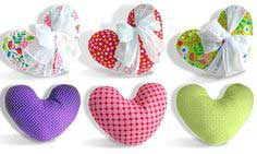 Box o' Chocolates Heart Pillows