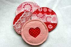 DIY Valentine Fabric Coasters