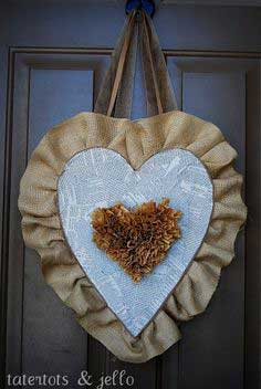 Burlap Valentine Heart Tutorial by Tatertots & Jello