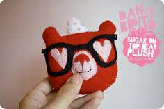 Valentine fun w/ guest blogger danny brito: super simple & awesome sugar on top bear felt plush!