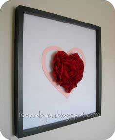 Framed Ruffly Heart Tutorial