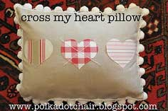 CROSS MY HEART PILLOW TUTORIAL