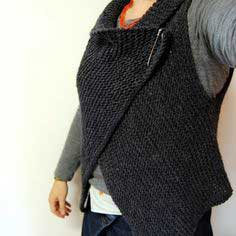 Simple Knitted Wrap Vest Pattern