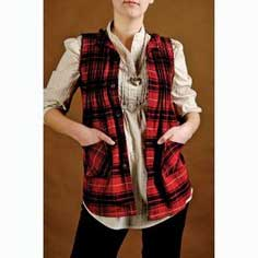 How to make a vest from a plaid shirt