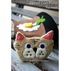 Tiger Coin Purse Pattern