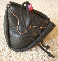Shoe leather coin purse