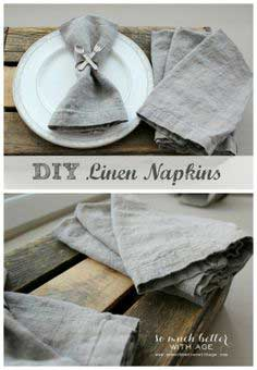 How To Make Your Own Linen Napkins (Placemats) tutorial