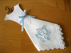 Making Wedding Dress Hankies