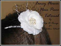 Fancy Flower Hair Piece  Tutorial