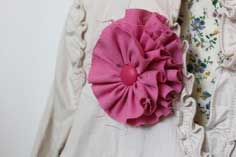 Fabric Rosette Pins – Tutorial