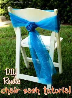 DIY Chair Sash Rosettes: A Tutorial