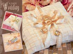 A Rustic Wedding with Fabric.com: Woven Ribbon Ring Bearer's Pillow