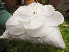 Ring Bearer Pillow with Flower