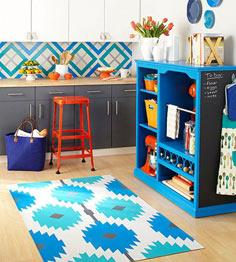 Painted DIY Kitchen Rug