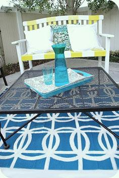 Stenciled Circle Rug Tutorial