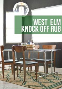 How To Paint A West Elm Knock Off