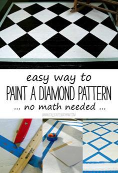 how to paint diamond pattern easy