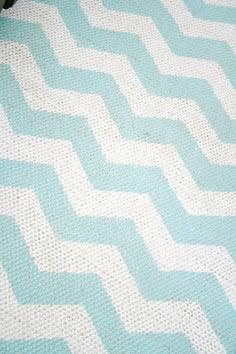 Chevron Painted Rug from IKEA Tut