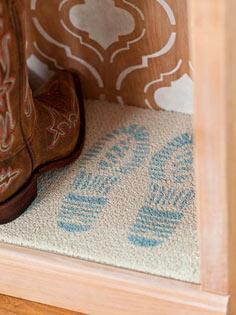Welcome Mat Stencil