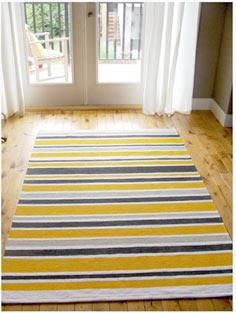 ERSLEV rug gets stripes - tutorial