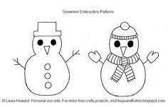 Snowmen Embroidery Patterns