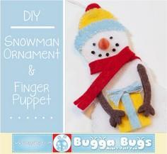 Snowman Ornament and Finger Puppet