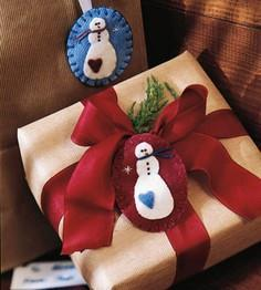 Make a Felted Snowman Pin for Chri