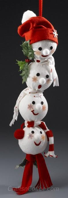 Adorable Snowman Swag made from a