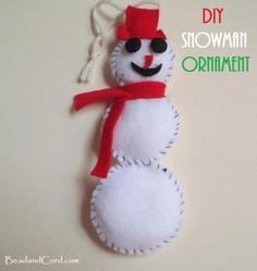How to Sew a Snowman