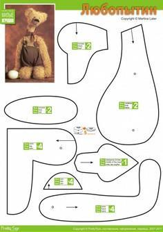 image about Free Teddy Bear Patterns Printable known as 86 Teddy Undergo Practices towards Sew at