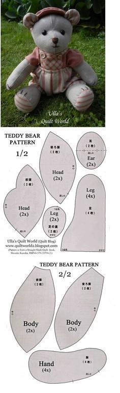 100 Teddy Bear Patterns to Sew at SewPin com