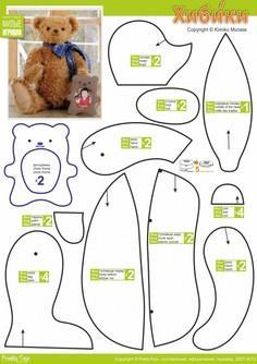 picture about Free Teddy Bear Patterns Printable named 86 Teddy Undertake Behaviors toward Sew at